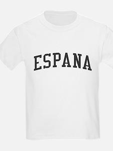 Spain Espana Black T-Shirt
