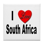 I Love South Africa Tile Coaster