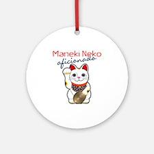 Maneki Neko Ornament (Round)