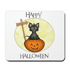 Happy Halloween Cat Mousepad
