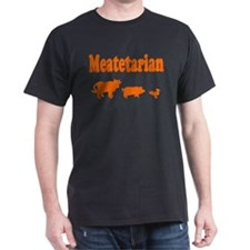 Meatetarian Orange/Black T-Shirt
