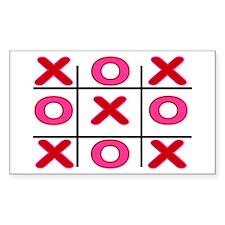 XOXO Rectangle Decal