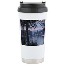 Lake George in wintertime Travel Mug