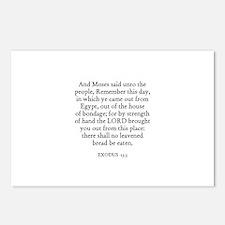 EXODUS  13:3 Postcards (Package of 8)