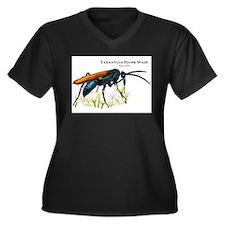 Tarantula Hawk Wasp Women's Plus Size V-Neck Dark