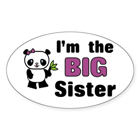 I'm the Big Sister Oval Sticker