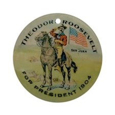 Unique Teddy roosevelt Ornament (Round)