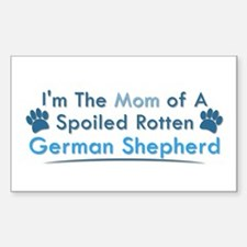 Spoiled Rotten Poodle Rectangle Decal