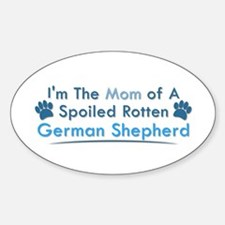 Spoiled Rotten Poodle Oval Decal