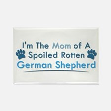 Spoiled Rotten Poodle Rectangle Magnet