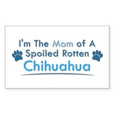 Spoiled Rotten Poodle Rectangle Stickers