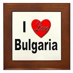 I Love Bulgaria Framed Tile