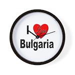 I Love Bulgaria Wall Clock