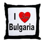 I Love Bulgaria Throw Pillow