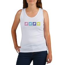 Poodle Pastel Cutouts Women's Tank Top