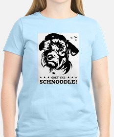 Obey the Schnoodle! Women's Pink T-Shirt