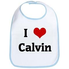 I Love Calvin Bib