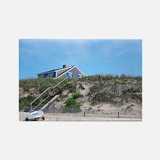 Cape Cod Beach House Rectangle Magnet
