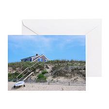 Cape Cod Beach House Greeting Card