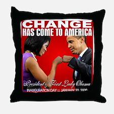 CHANGE-Fist Bump Throw Pillow