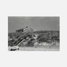 Cape Cod Beach House (b&w) Rectangle Magnet