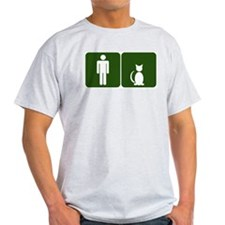 Cat Restroom: Man/Cat T-Shirt