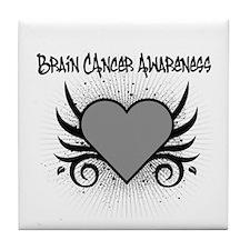 Brain Cancer Awareness Tile Coaster