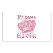 Vintage Princess Caroline Personalized Decal