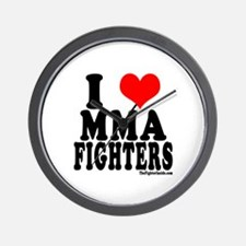 I LOVE MMA FIGHTERS Wall Clock