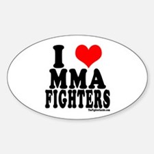 I LOVE MMA FIGHTERS Oval Decal