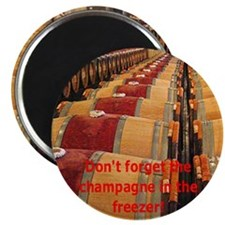 Champagne In The Freezer - Reminder Magnet