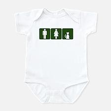 Cat Restroom Sign Infant Bodysuit