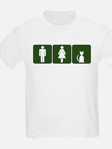 Cat Restroom Sign T-Shirt