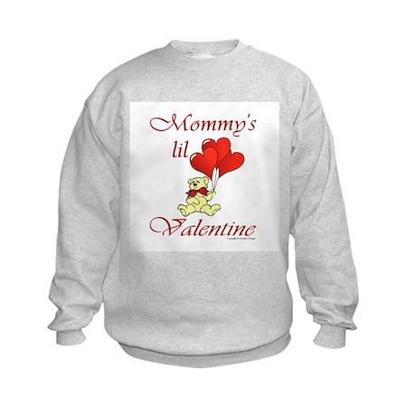 Mommy's lil Valentine Kids Sweatshirt