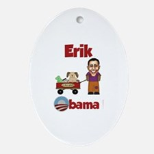Erik - an Obama Kid Oval Ornament