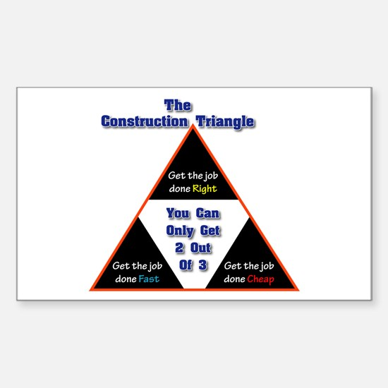 Construction Triangle Rectangle Decal
