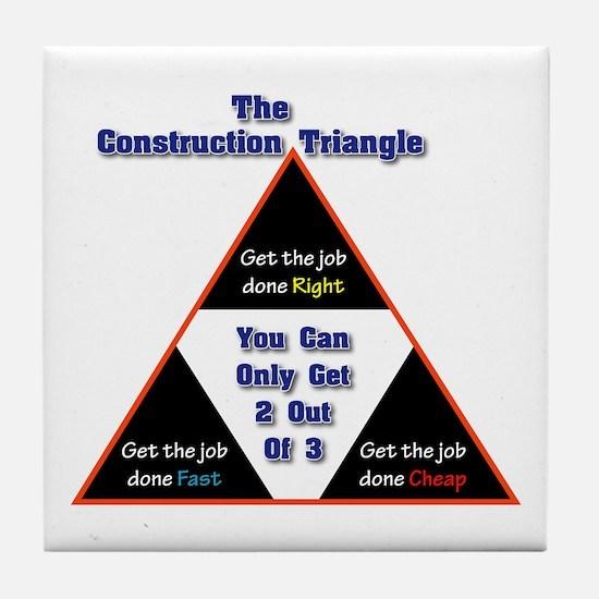 Construction Triangle Tile Coaster