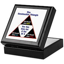 Construction Triangle Keepsake Box