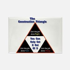 Construction Triangle Rectangle Magnet
