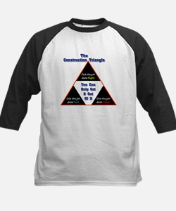 Construction Triangle Kids Baseball Jersey