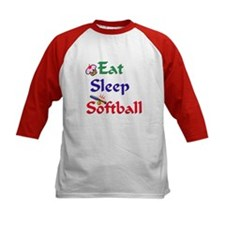 Eat Sleep Softball Tee