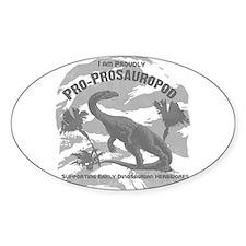 Hadrosaur Oval Decal