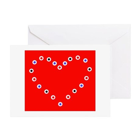 Valentine's Day Heart Greeting Card (Red)