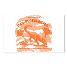 Blue Pro-Prosauropod Rectangle Decal