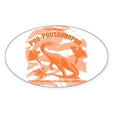 Blue Pro-Prosauropod Oval Decal