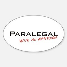 Paralegal / Attitude Oval Decal