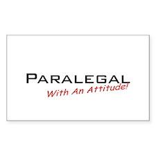 Paralegal / Attitude Rectangle Decal