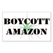 Boycott Amazon Rectangle Decal