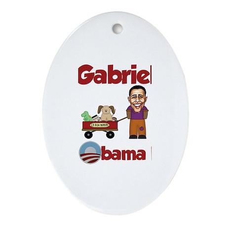 Gabriel - an Obama Kid Oval Ornament