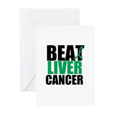 Beat Liver Cancer Greeting Card